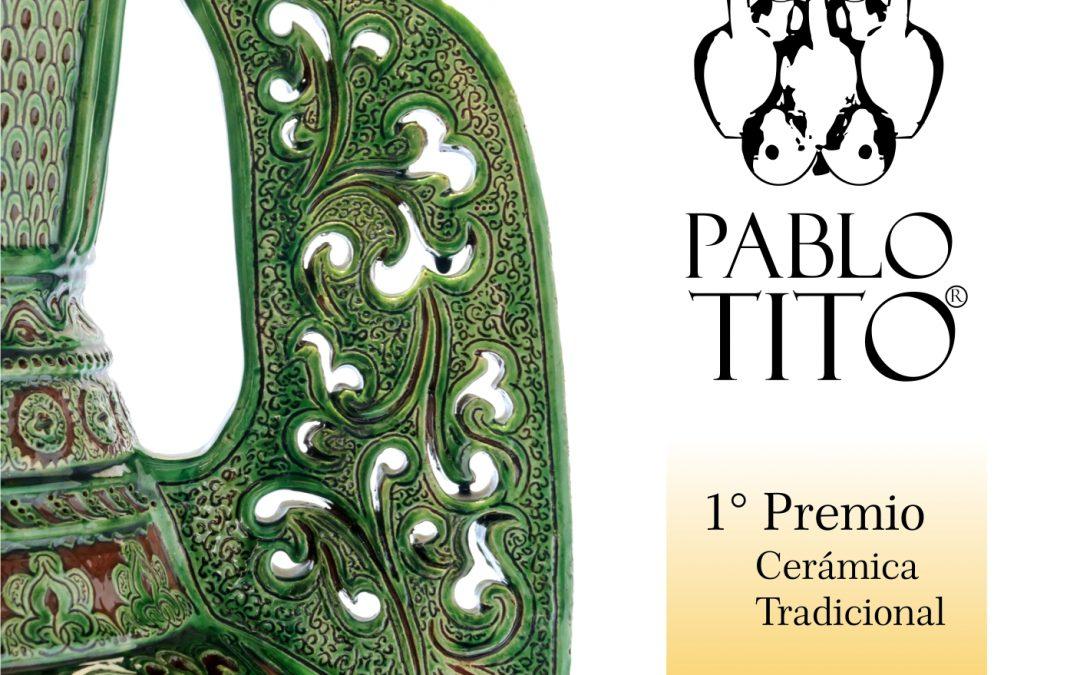 Pablo TITO  gana el 1º Premio del Concurso Internacional  de La Rambla en la modalidad de cerámica tradicional