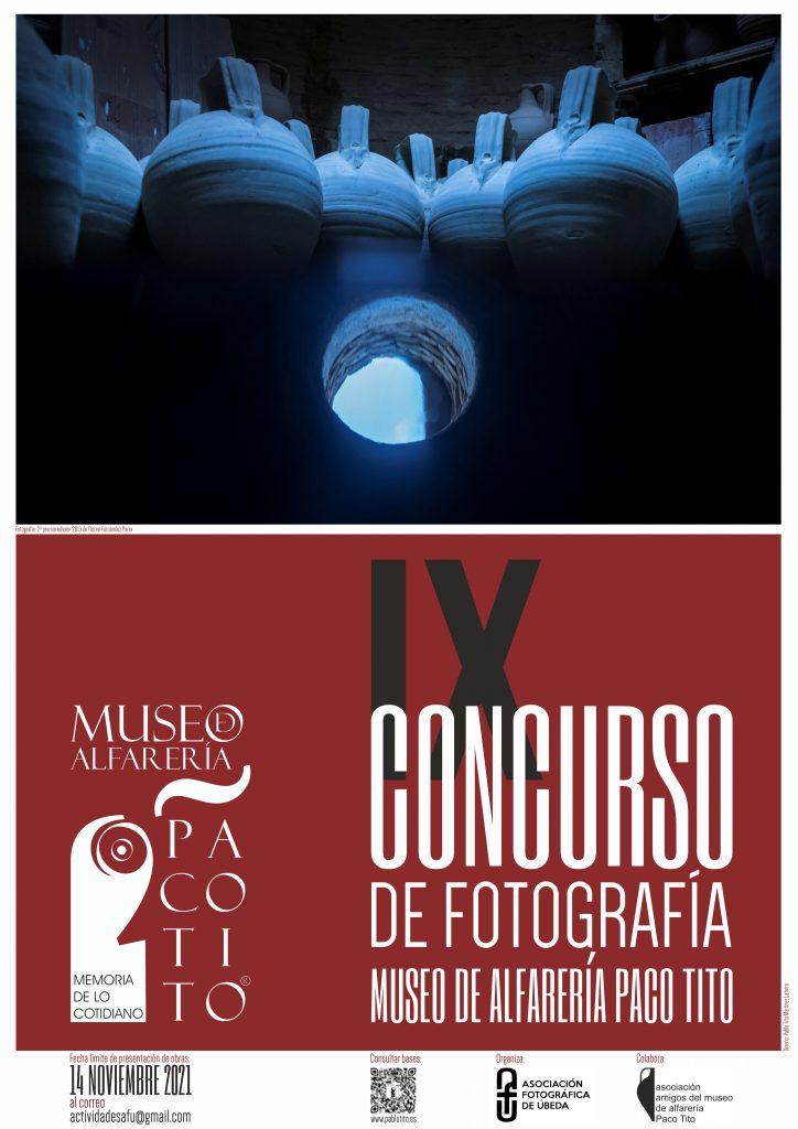 """Cartel IX Concurso de fotografía """"Museo de Alfarería Paco TITO"""""""
