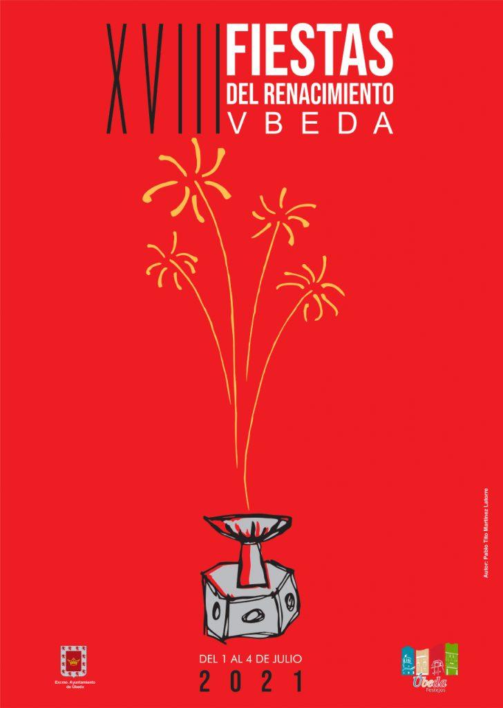 Cartel de las XVIII Fiestas del Renacimiento, obra de TITO Martínez